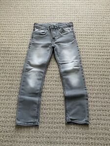 H&M Kids Boys Super Soft Straight Legs Denim Jeans In Gray 7-9T