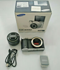 Samsung NX3000 Black Digital Camera w/ 20-50mm Lens Flash In Original Box