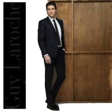 COSTUME COUPE SLIM HOMME GUY LAROCHE STUDIO 46 VESTE 38 PANTALON NOIR SUPER 120
