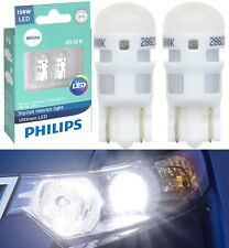 Philips Ultinon LED Light 158 White 6000K Two Bulb Front Side Marker Replace OE