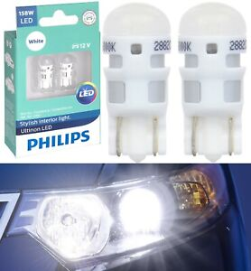 Philips Ultinon LED Light 158 White 6000K Two Bulb Front Side Marker Replace Fit