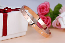 Elegant Love Bangle Embossed Bracelet Rose Gold Bangle Cuff Party Prom