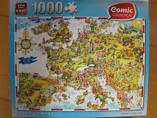 """""""CRAZY EUROPE"""" : COMIC COLLECTION - PUZZLE KING 1000 PIECES 68 X 49 cm - COMPLET"""