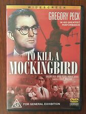 To Kill A Mockingbird DVD (Widescreen) *Gregory Peck *Region Free *Disc VGC