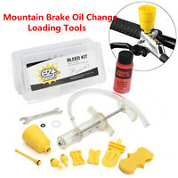 Brake Oil Change Tools Bleed Kit w/ 60ml Mineral Oil for Tektro & Shimano Brakes