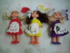 3 ältere Puppen für Puppenstube 15cm groß, Arme und Beine beweglich