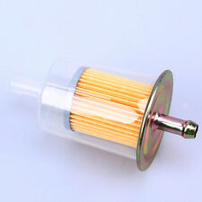 """2x Universal 8mm Clear 5/16"""" ABS Plastic Reusable Washable Inline Fuel Filter-US"""