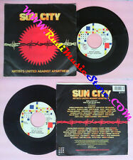 LP 45 7'' ARTISTS UNITED AGAINST APARTHEID Sun city Not so far away no cd mc dvd
