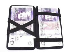 New Super Soft Real Black Leather Magic Wallet Market Trader Taxi Cabin Crew