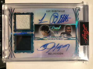 2020-21 Leaf Pearl Luc Robitaille Kings Bo Jackson Raiders Paragon 2/5 Auto PD