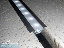 """(7,95€/m) 2m ALU-Profil / Leiste """"FUGE-S"""" für LED Streifen + diffuser Abdeckung"""