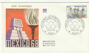 ENVELOPPE 1er JOUR 1968 - JEUX OLYMPIQUES DE MEXICO 1968