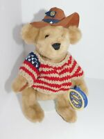 Americana Cowboy Bear Plush Brass Button Cody Stuffed Animal 1996 VTG