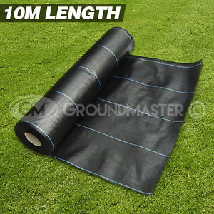 10M LONG GROUNDMASTER™ HEAVY DUTY WEED CONTROL FABRIC GROUND COVER MEMBRANE