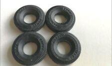 "Corgi replacement tyres 17 mm treaded ""CORGI TOYS"" 1967 onward L Rover dodge DD5"