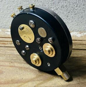 "One-Of-A-Kind 5"" Vintage Brass Pressure Gauge, Steampunk, Antique, Industrial"