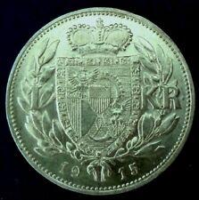 LIECHTENSTEIN: 1915 krone, .835 silver - high to very high grade