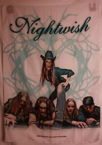 """Nightwish 2004 Cowgirl Once Group Cloth Textile Poster Flag Banner 30"""" x 40"""" New"""