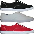 Womens Keds Champion Originals Canvas Sneakers Shoes White Black Red Medium Wide