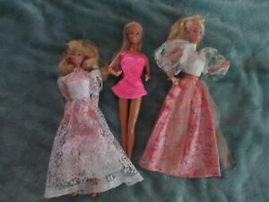 Lot of older Barbies - Hollywood hair + 3 others
