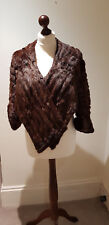 1930's Unique VIintage- Mahogany-Mink--Cape Stole Wrap  Sleeved Shawl  Art Deco