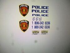 New Jersey Transit Police K9 Patrol Car Decals 1:43