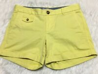 Banana Republic City Chino Shorts Moon Yellow Women Size 4