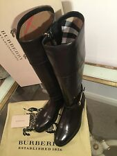 """BURBERRY """"Winton"""" Bottes Chaussures Mors de Cheval SZ UE 36 UK 3 WILL FIT 4 Nouveau RRP £ 550"""