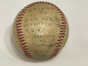 Vintage New England League Game Used Baseball Cranston Stadium Vs Pawtucket 1945