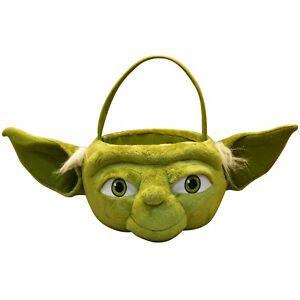 Star Wars Yoda Medium Plush Figural Halloween Candy Easter Basket Pail