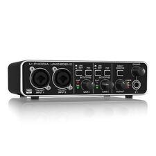 Behringer U-PHORIA UMC202HD Audiophile 2x2 Interfaz De Audio Usb Con Preamplificadores De Midas