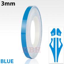 "3mm Self Adhesive Coach Line Pin Stripe Vinyl Craft Tape Decal Sticker 1/8"" BLUE"