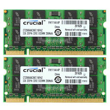 For Crucial 4GB 2X2GB 2RX8 PC2-5300S DDR2-667MHz SO-DIMM Laptop Memory RAM