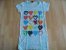 ALTERNATIVE APPAREL vintage soft cooles Shirt mit Herzen Gr. M TOP (OA 514)