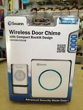 Wireless Door Chime with Compact Backlit Design.