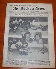 The Hockey News October 18 1952  Al Rollins / Maurice Richard
