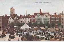 POSTCARD  WILTSHIRE  SALISBURY  The Market