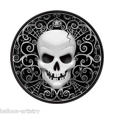 8 Gothic Skull Terror Halloween Party Small 17.8cm Disposable Paper Plates
