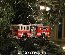 Custom Pierce Fire Ladder Truck Christmas Ornament 1/64th Scale Adorno NEW!