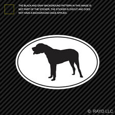 Japanese Mastiff Euro Oval Sticker Die Cut Decal Adhesive Vinyl dog canine pet