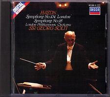 Sir Georg SOLTI: HAYDN Symphony No.95 & 104 London DECCA 1986 CD LPO