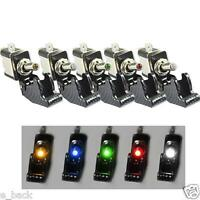 5Pcs 12V 20A Car Truck Carbon Fiber LED Light Toggle Switch SPST 5Colors Fad new