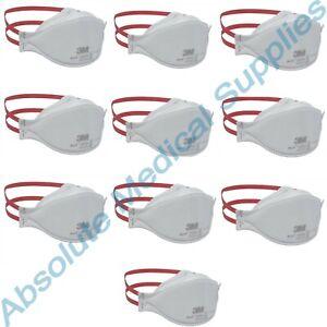 *10-Pack* 3M Aura NIOSH N95 Particulate Respirator Face Mask White 1870+