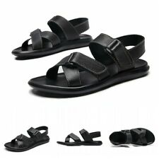 Black Men Outdoor Leisure Slingback Sports Hiking Sandals Beach Roman Shoes 45 L