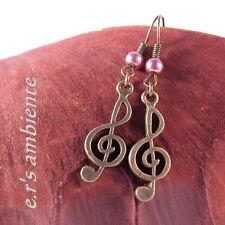 Musiknote-Ohrringe, Notenschlüssel, Ohrhänger, 0757