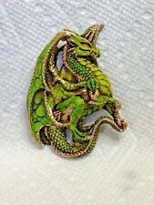Harmony Kingdom Artist Neil Eyre Designs Dungeon Dragon Gold Leaf Magnet New Le