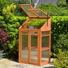 More details for outdoor wooden mini green house cold frame vegetable flower planter grow house