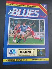 Carlisle V Barnet 1992/3