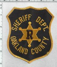 Oakland County Sheriff Reserve Deputy (Michigan) 2nd Issue Shoulder Patch
