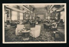 Shipping Cunard White Star RMS QUEEN MARY Cabin Lounge c1930s? PPC